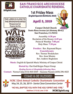 First Friday Mass April, 2019